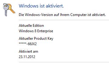 Ein hartes Stück Arbeit: Windows 8 Key ändern