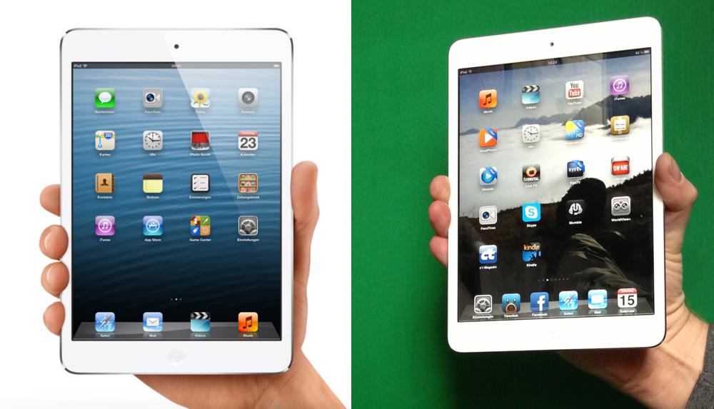iPad mini mit nur 1 Hand halten
