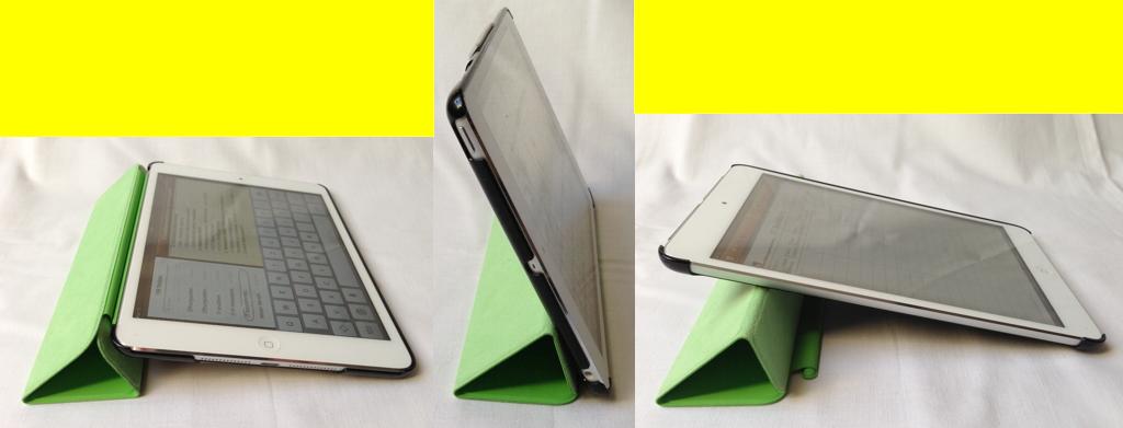 Die Standard-Stellungen des SmartCovers beim iPad mini