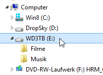 3 TB im Windows Explorer