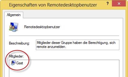 Remotedesktopbenutzer