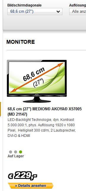 "Medion 27""-Monitor"