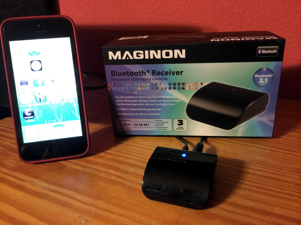 maginon bluetooth receiver von aldi s d skyberts kleine gadget welt. Black Bedroom Furniture Sets. Home Design Ideas