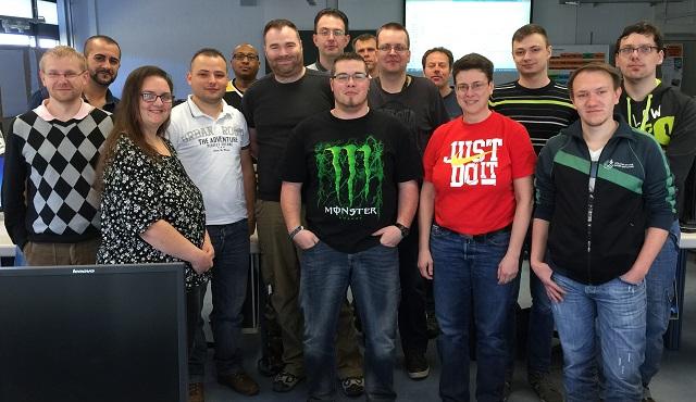 Foto IT-Ausbildungsgruppe IT34 im April 2015 am Berufsförderungswerk Schömberg gGmbh
