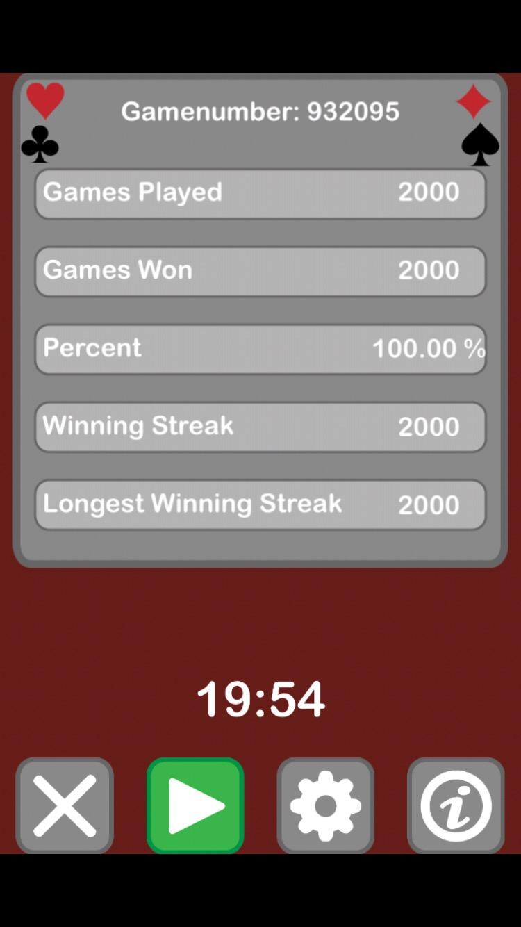 Das 2000. Spiel wurde gerade gewonnen!