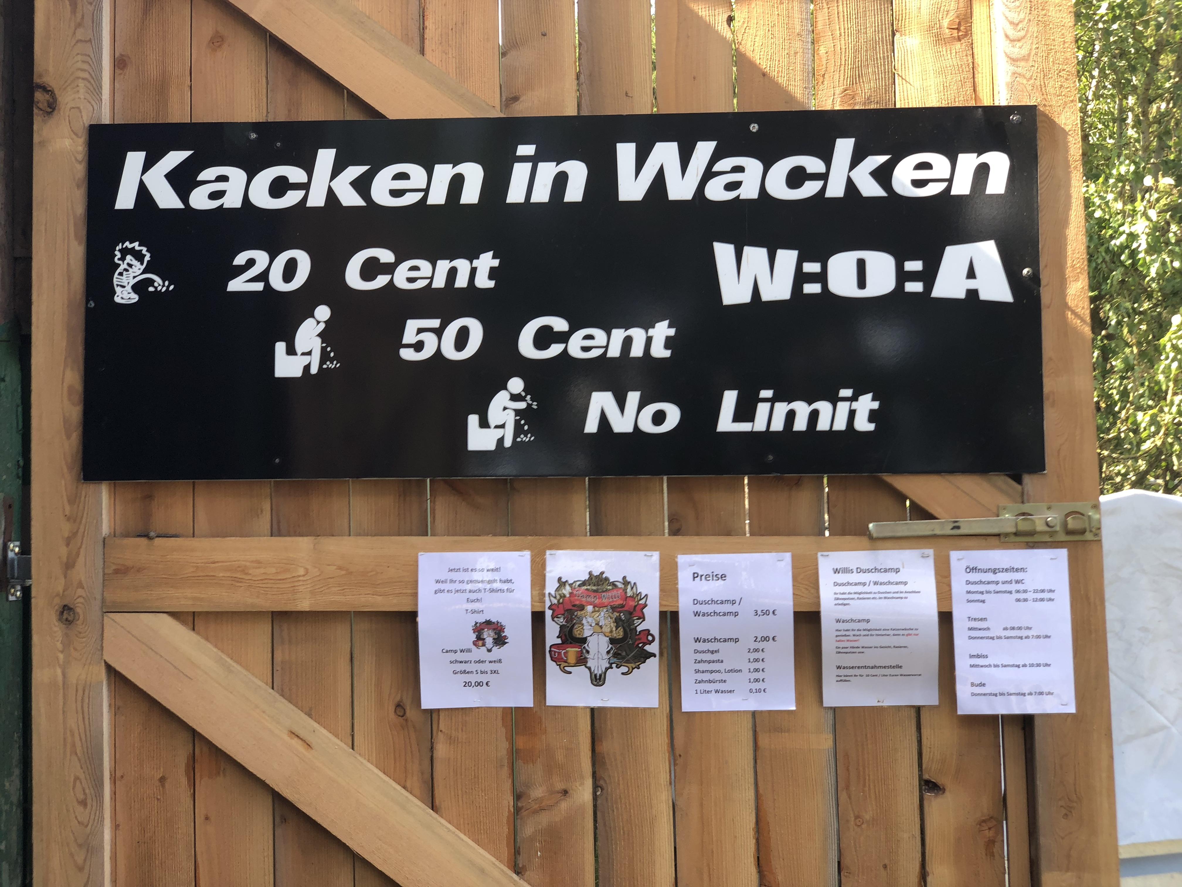 Kacken auf Wacken