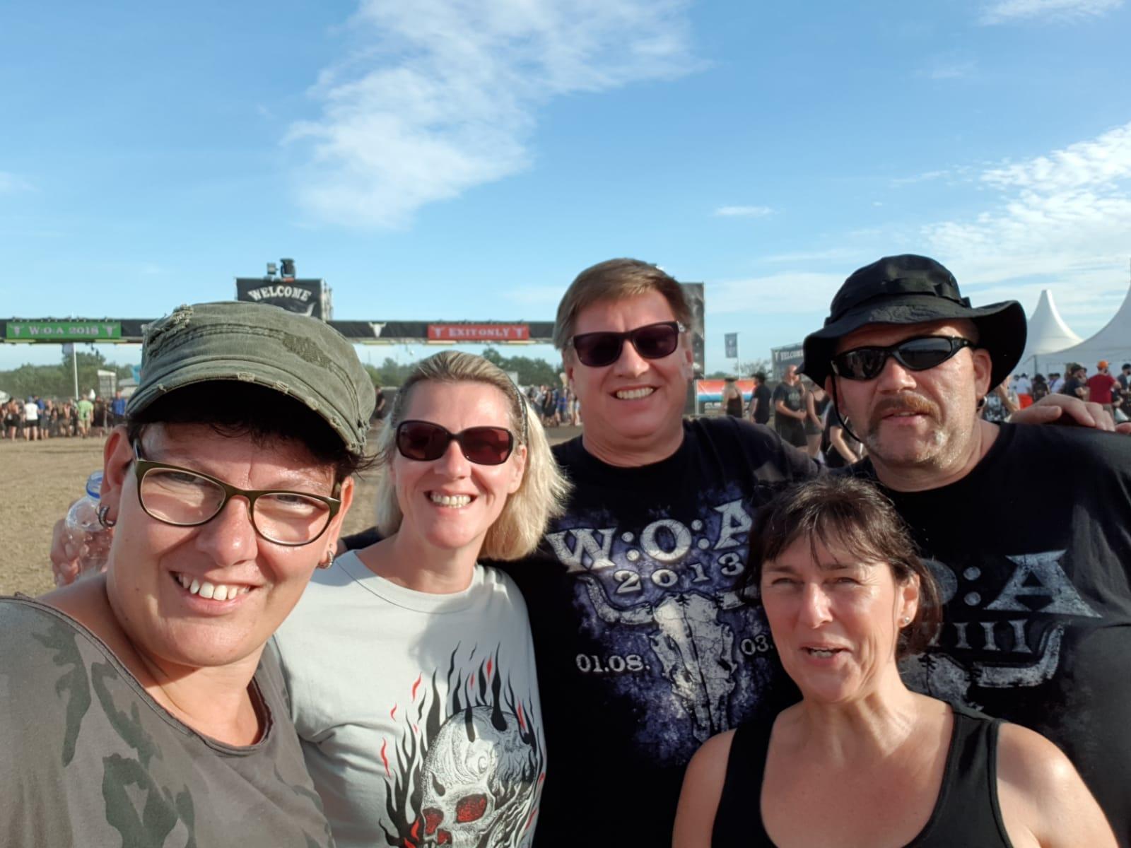 Sonja, Angie, Berti, Uwe, Heike
